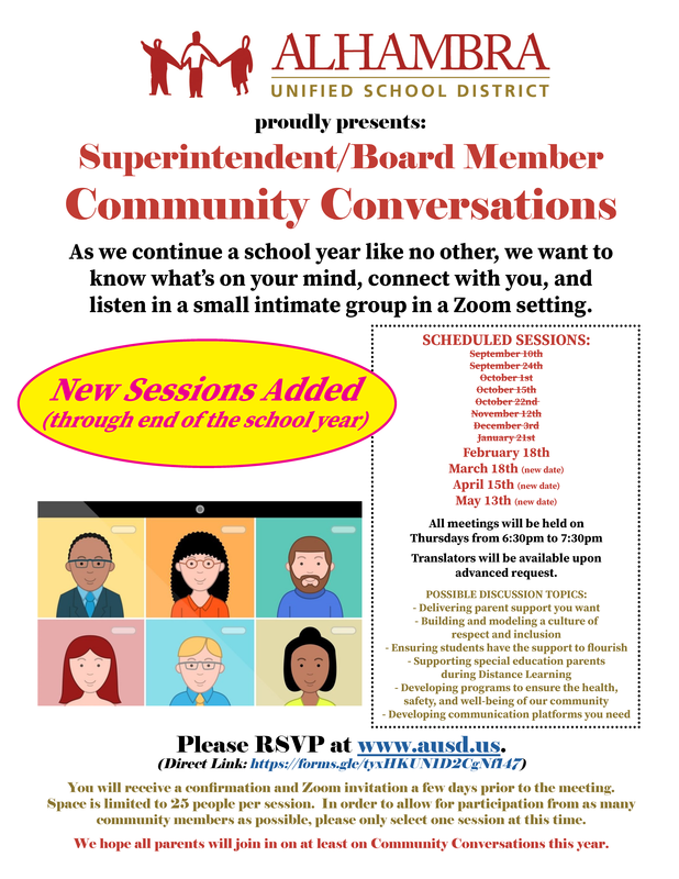 Community Conversations - NEW DATES (through May) available! Featured Photo