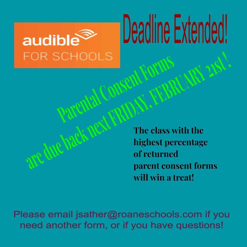 Audible for Schools - Deadline Extended