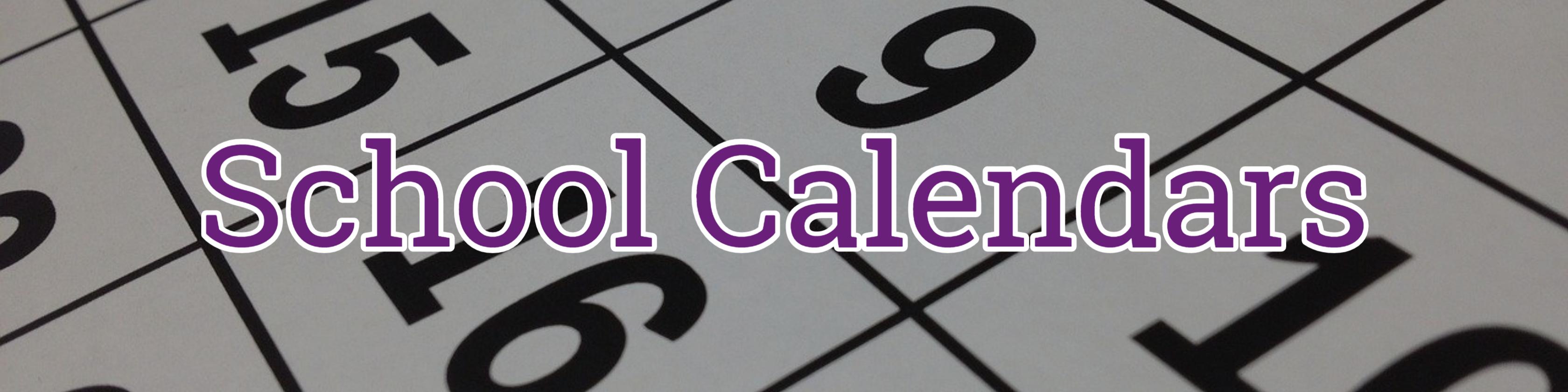 School Calendars Header