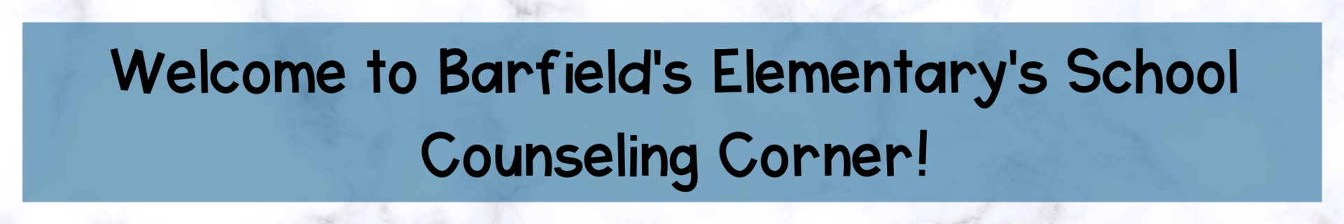 Barfield School Counseling Corner header