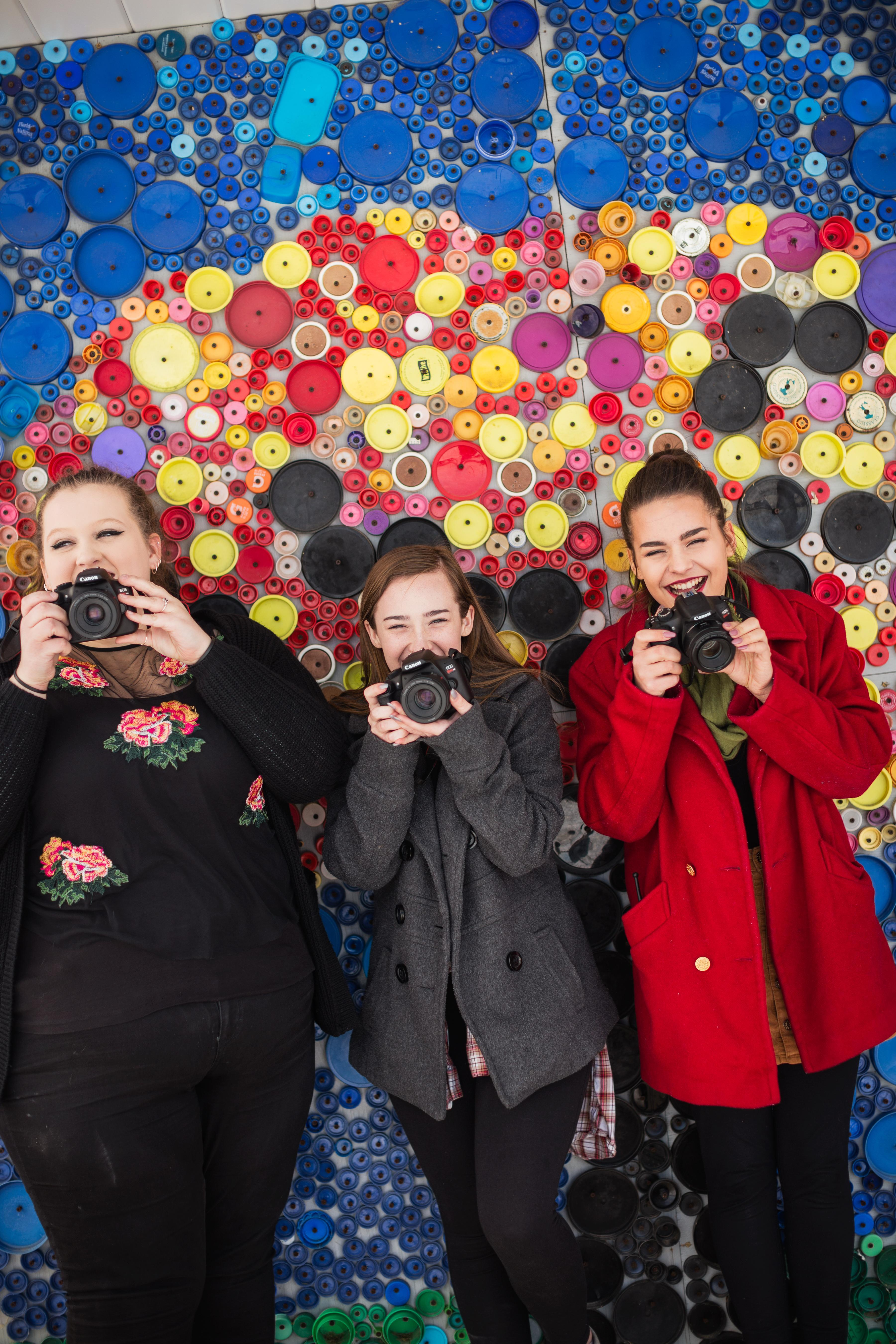 Students with cameras