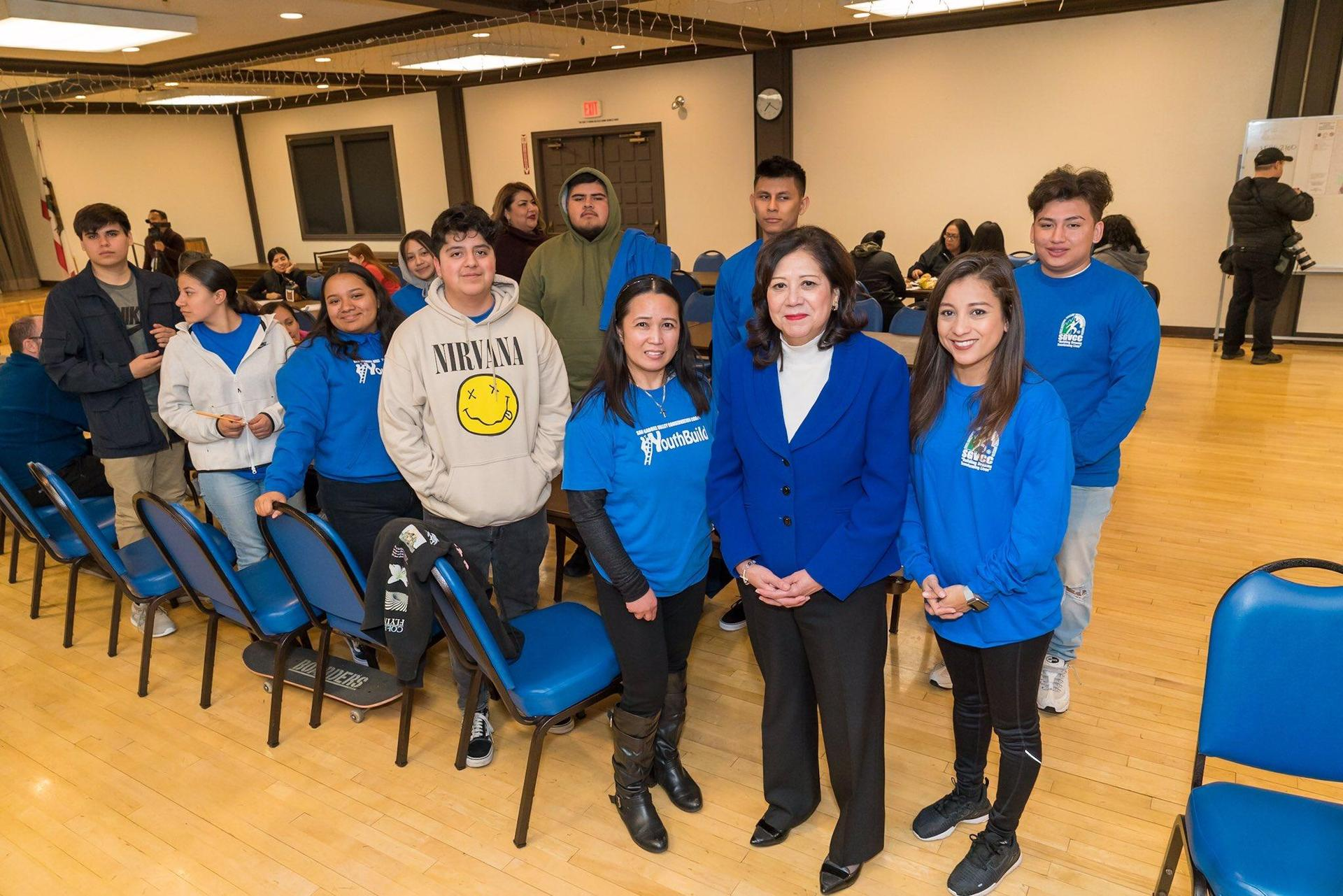 El Monte staff and students with Hilda Solis