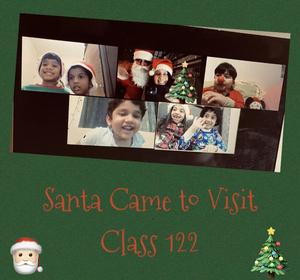 Zoom class with Santa