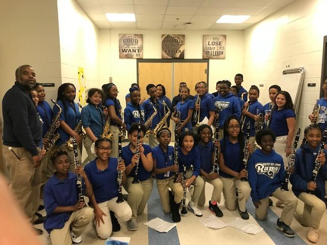 West St. John Elementary School Band students in 4th to 7th grade with the direction of Mr. Lionel Williams.