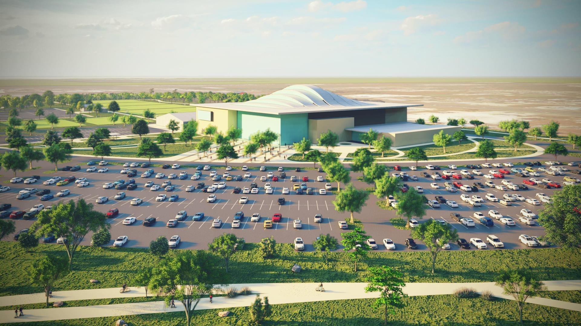 rendering of event center