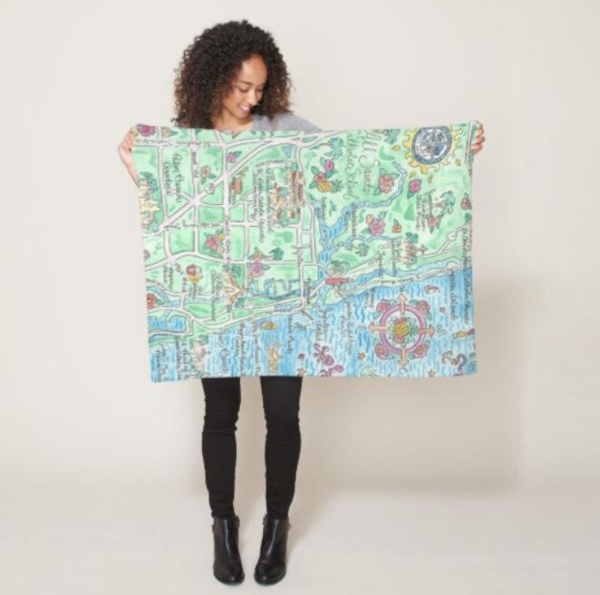 ASCS Map Toddler Blanket