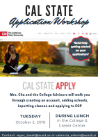 Thumbnail picture of CSU Workshop flier