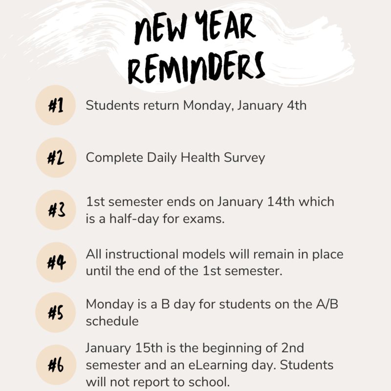 New Year Reminders