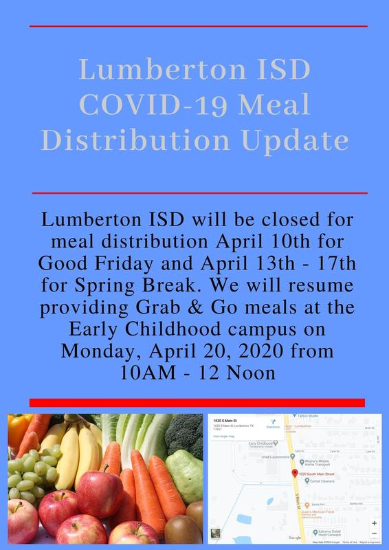 LISD Grab & Go Meal Update