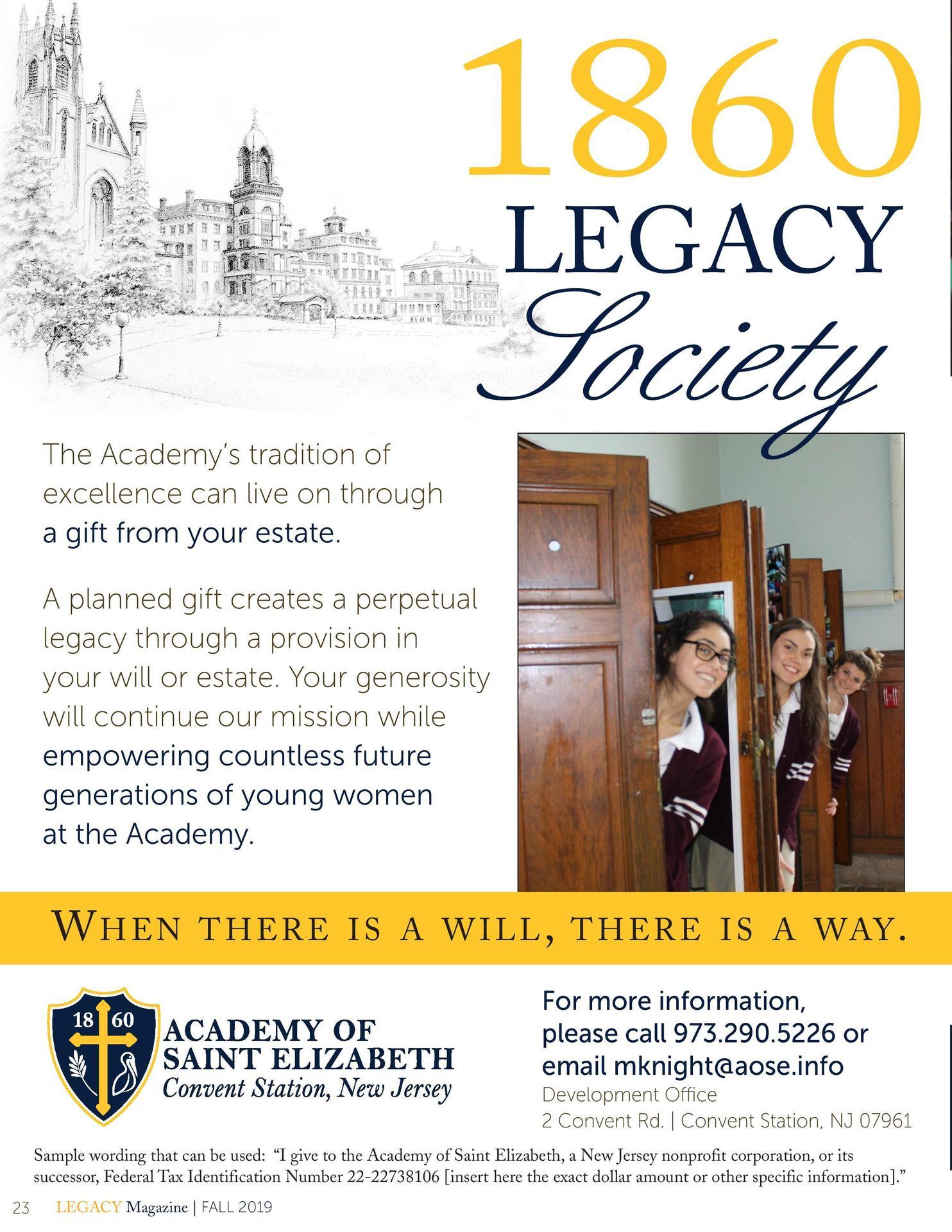 1860 Legacy Society