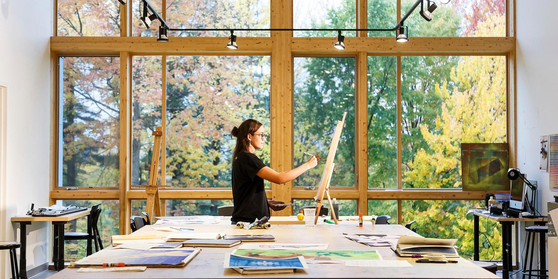 Art studio in the Catherine Houghton Arts Center.