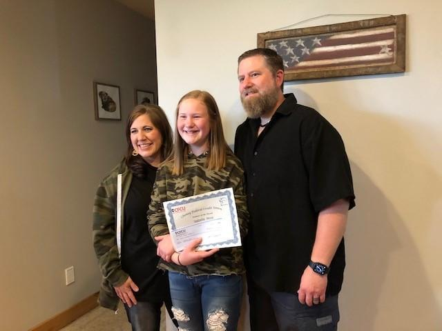 Cheney Federal Credit Union Betz Student of the Month-Bella Wold Thumbnail Image