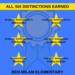 All Six Distinctions Earned