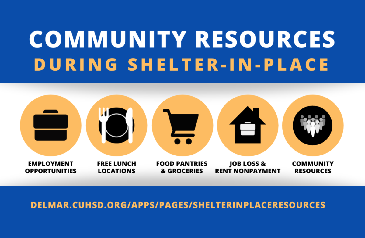 image of webpage of shelter-in-place resources for families