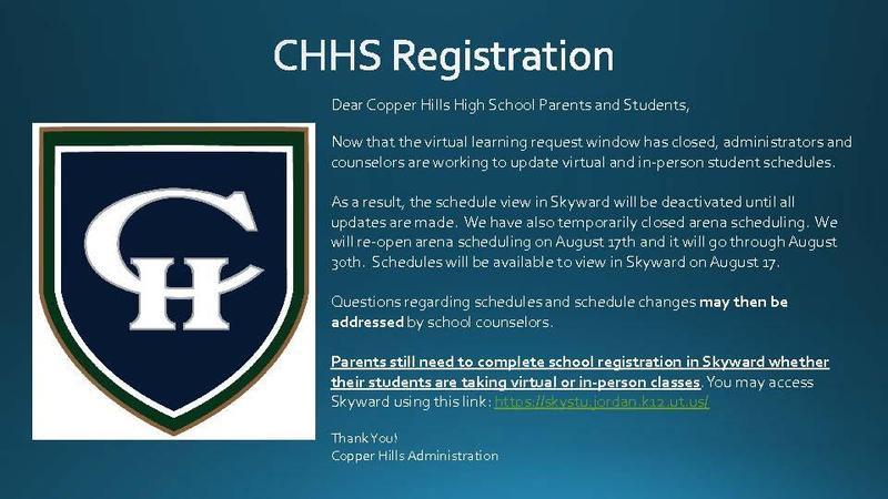 CHHS Registration 20-21