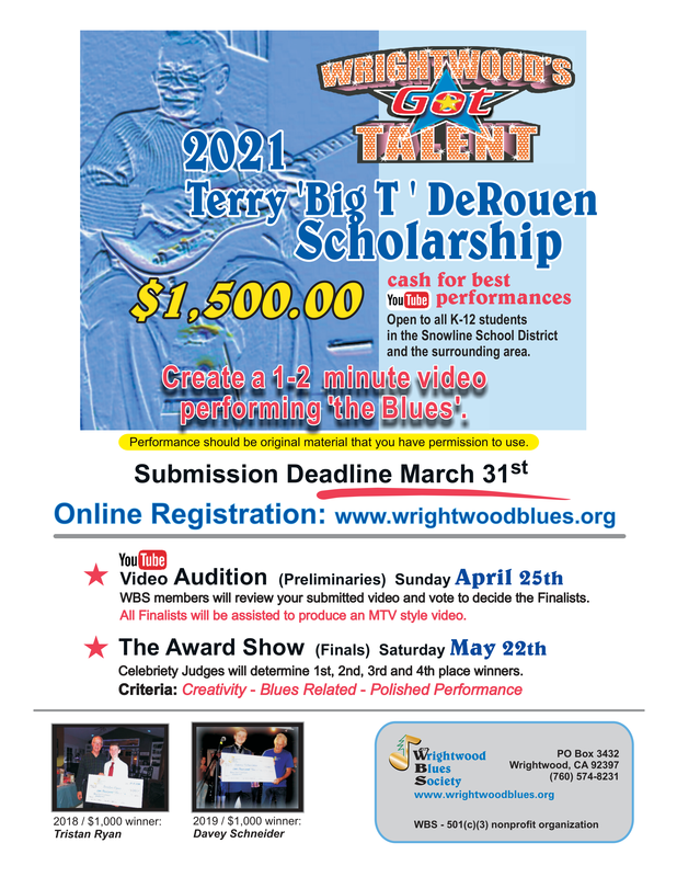 Wrightwood Blues Society Annual Scholarship/Wrightwood's Got Talent Featured Photo