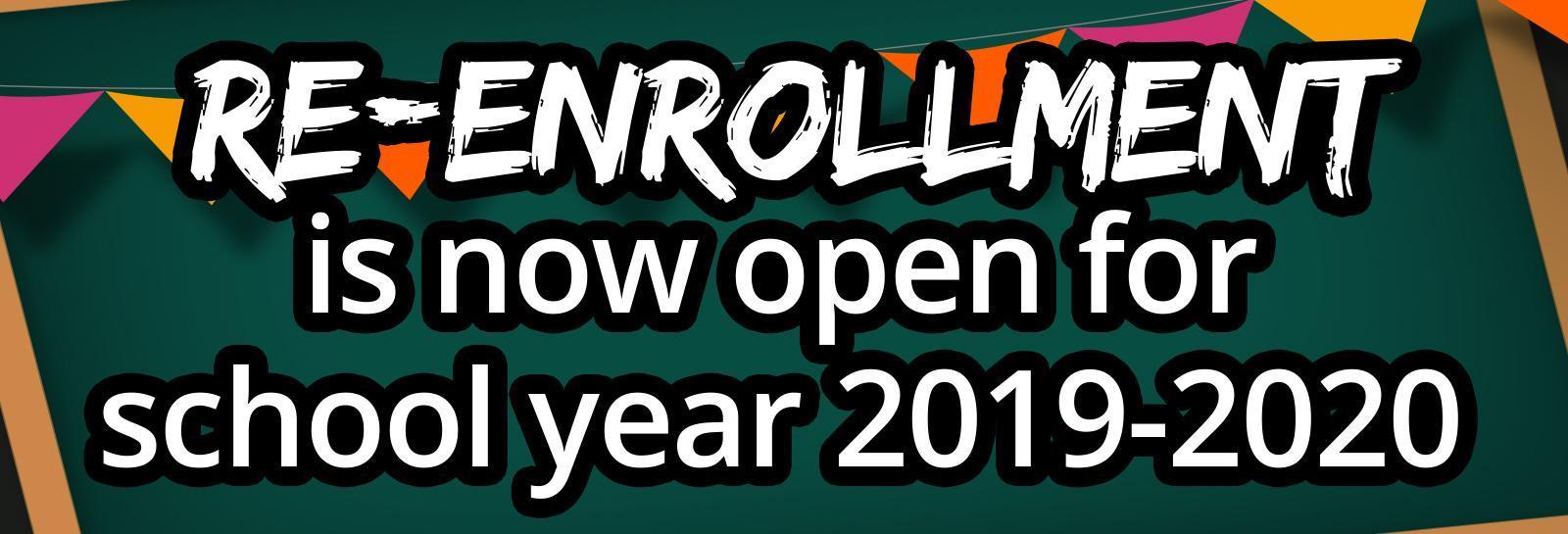 Re-Enrollment for 2019-20