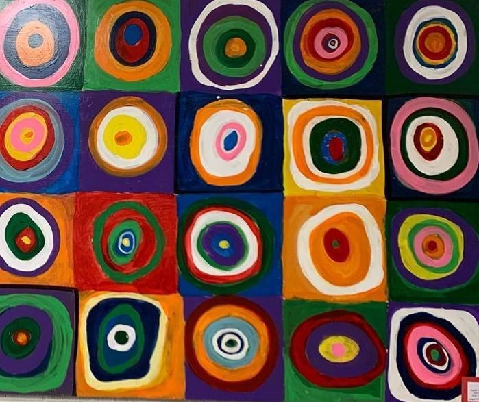 Student Art Project Inspired by Wassily Kandinsky