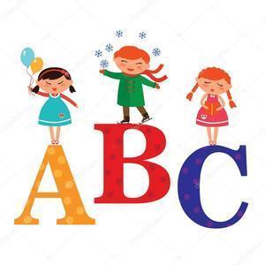 clip art image of alphabet letters ABC