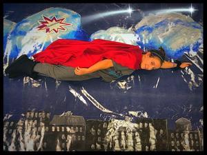 Pic of Miranda LaJevic in superhero outfit