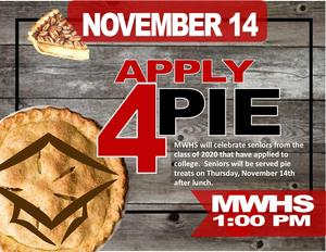 Apply for Pie November 14, 2019 at 1 pm
