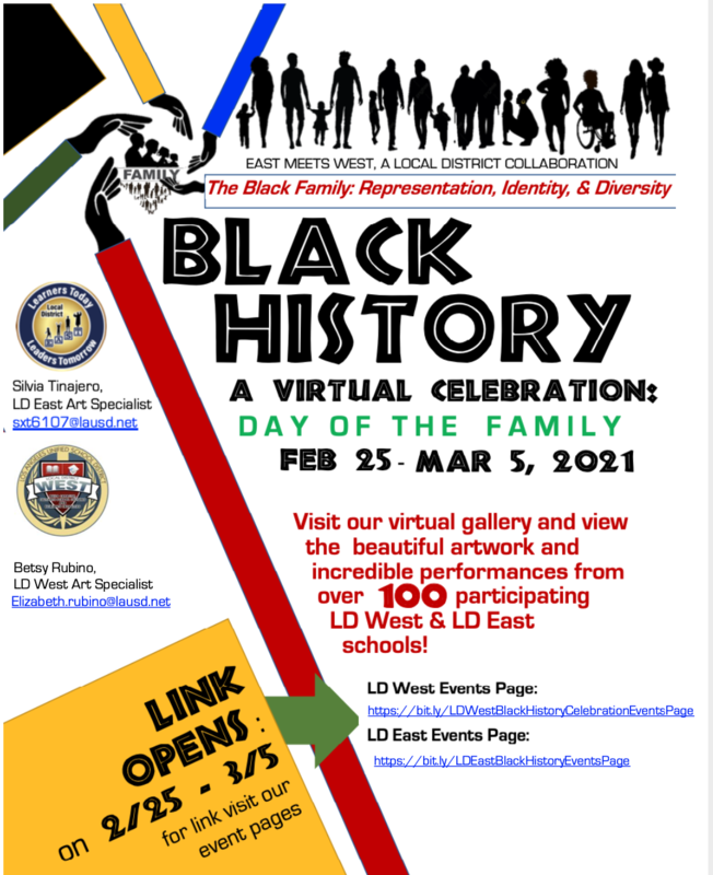 East Meets West Black History Art Celebration, A Local District Collaboration Featured Photo