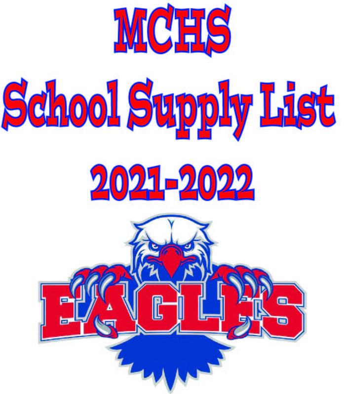MCHS 2021-2022 School Supply List Featured Photo