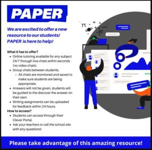 Paper tutoring flyer