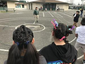 two upper grade students showing off their crazy hair, image 1