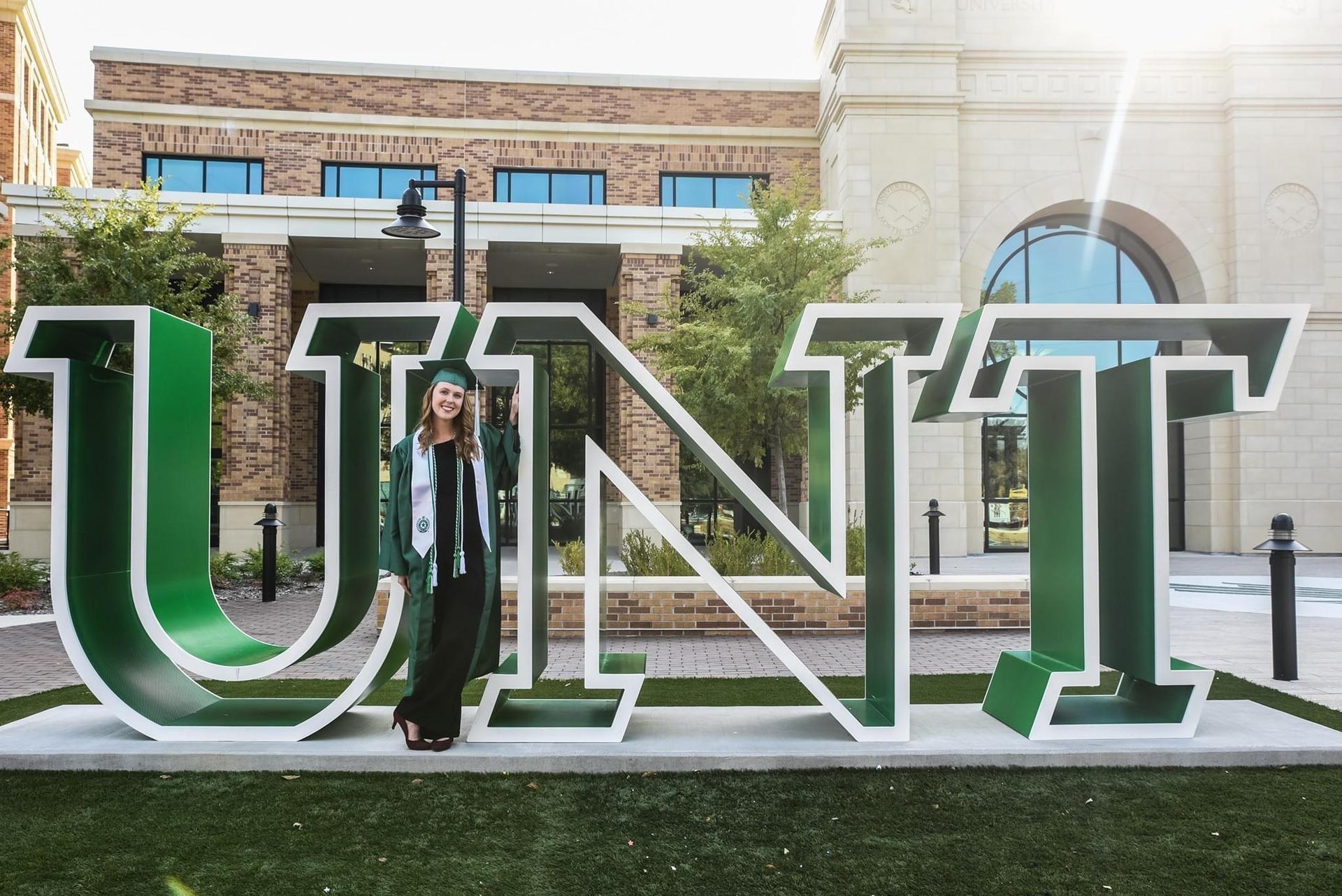 Graduation Portrait of Ms. Belokin at the University of North Texas
