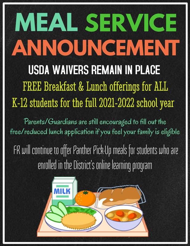 Meal Service for K-12 (2021-22)