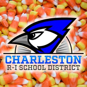Candy corn with Blue Jay logo