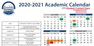 2020/21 Academic Calendar image