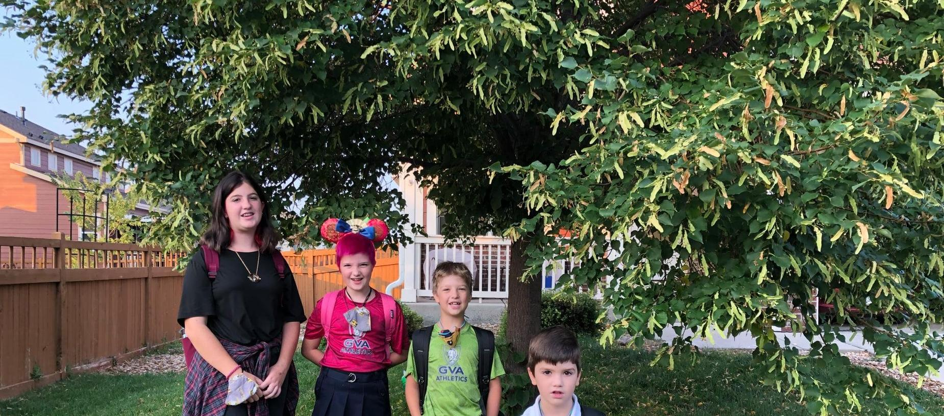 children on First Day of School 2021-2022