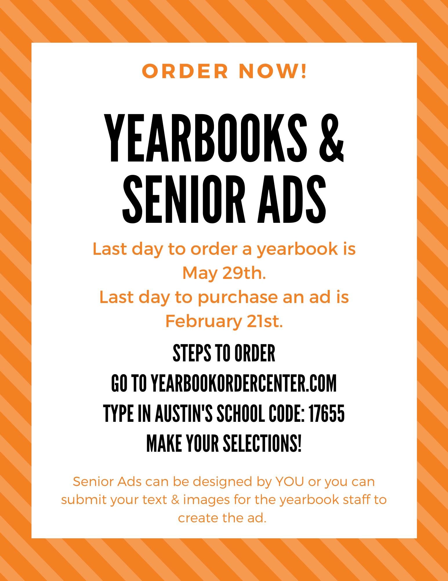 2020 Yearbooks and Senior Ads Image
