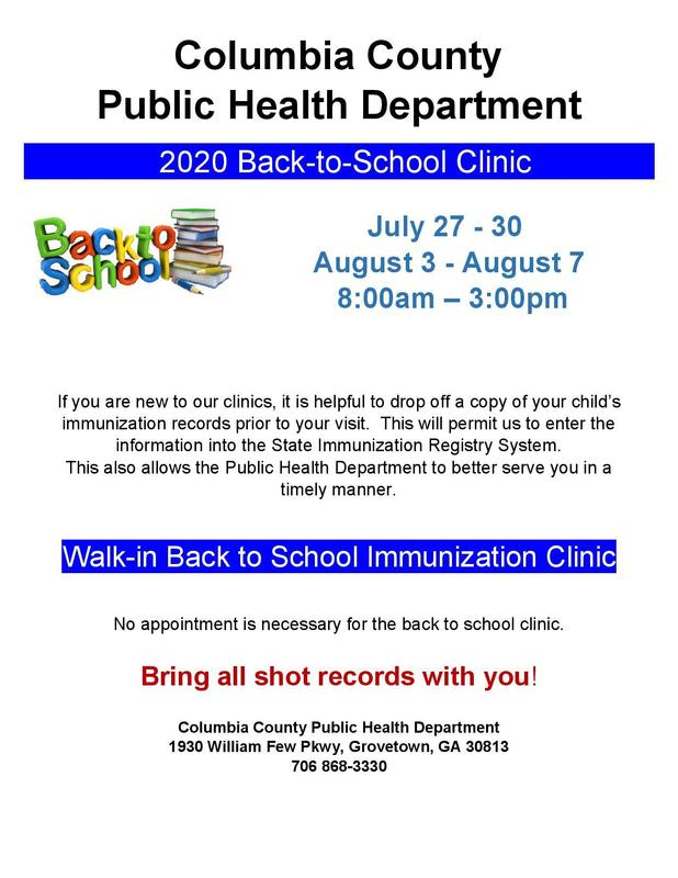 2020 Back to School Clinic