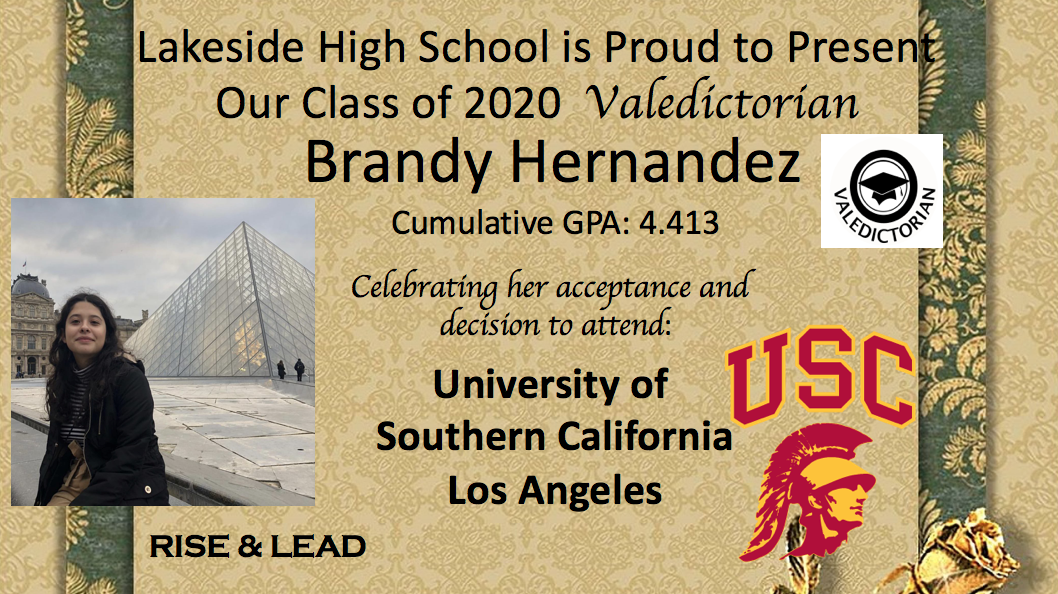2020 Valedictorian