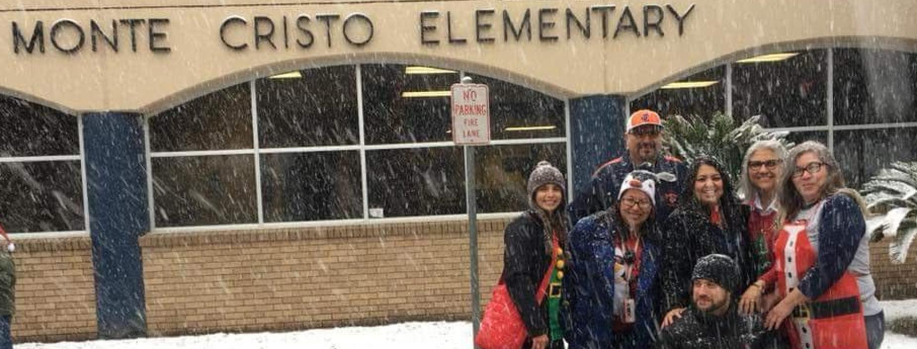 School picture in the snow