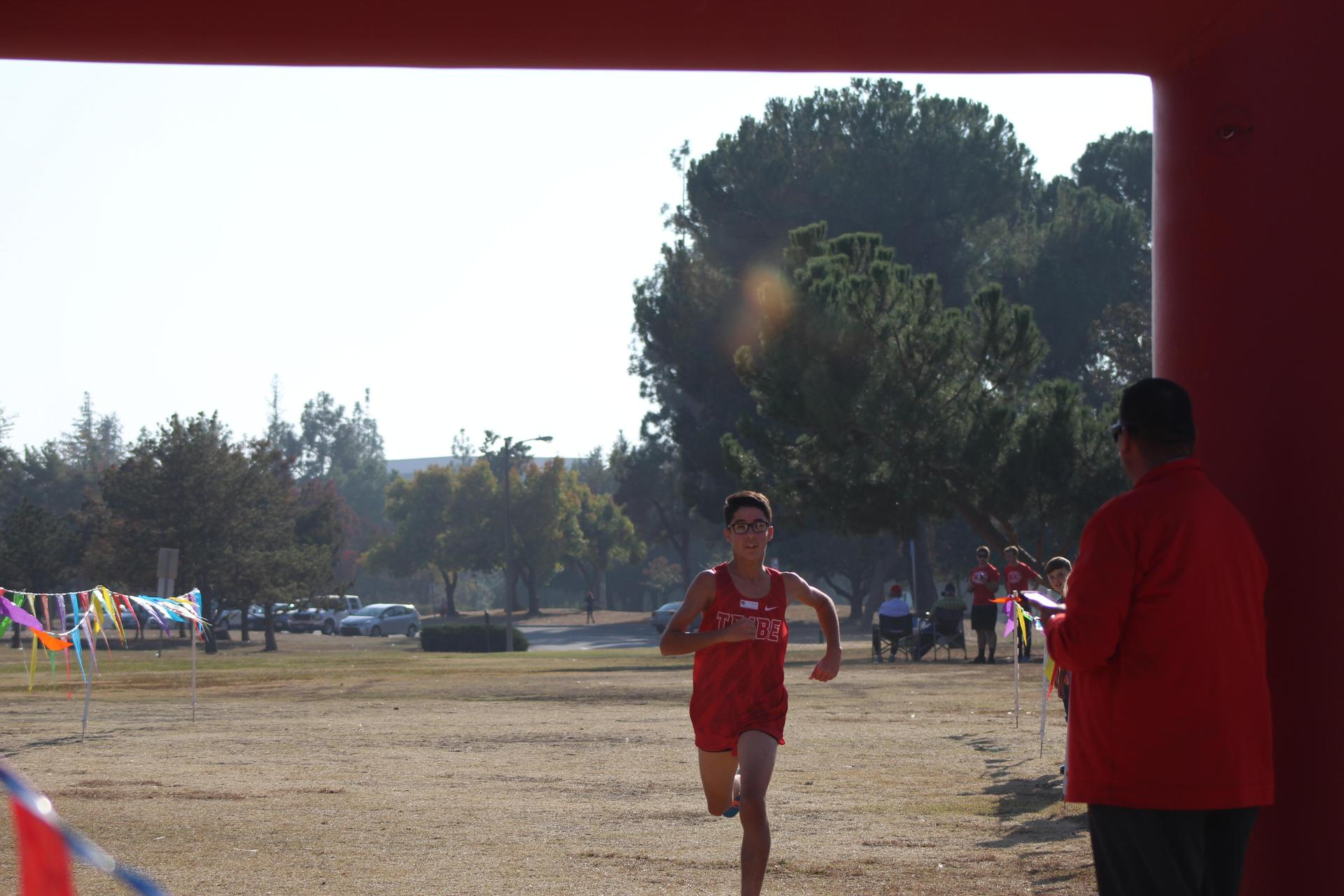 JV Boys running at the NSL Cross Country Championships.
