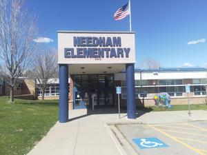 Needham Elementary School entrance