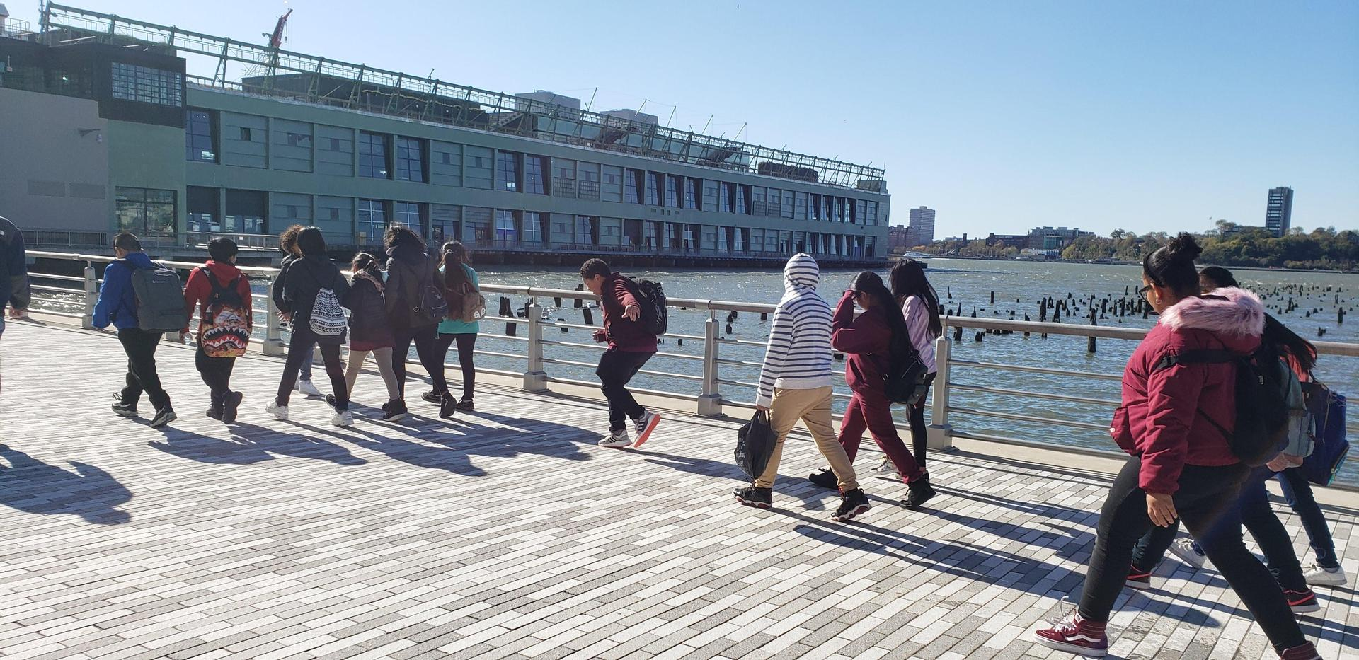 6th Grade Students Team Building at Chelsea Pier
