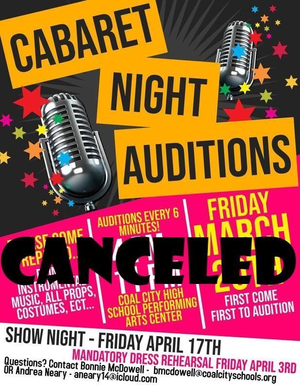Cabaret Night Canceled