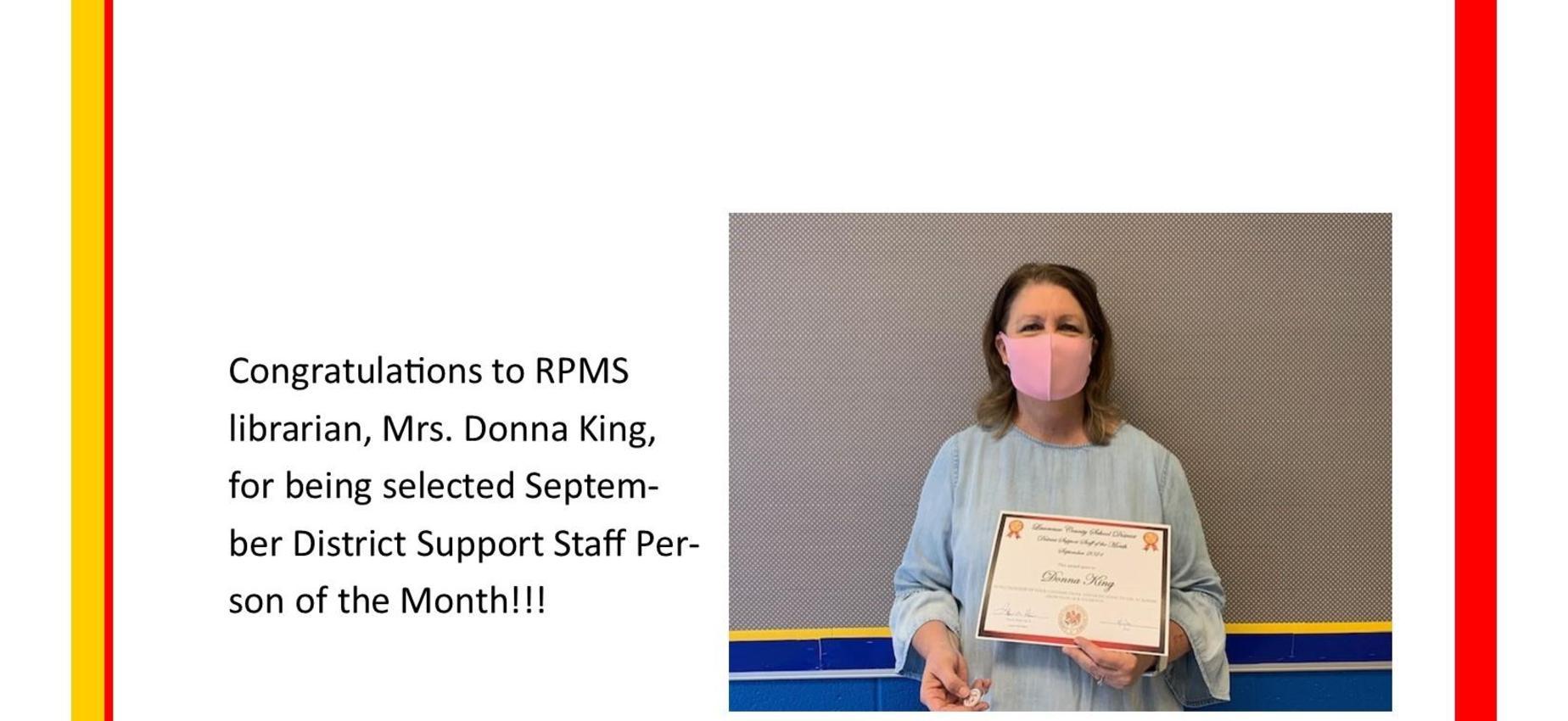 Donna King- Sept 21 SSOTM