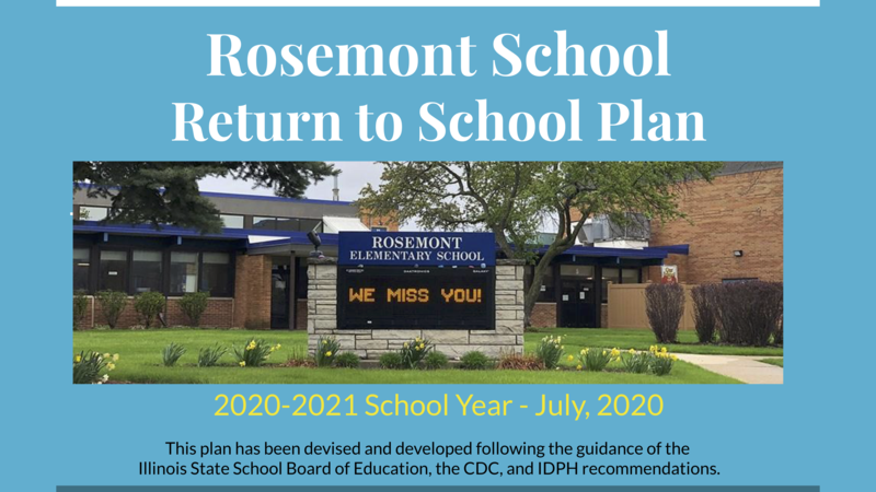 Return To School Plan 7/13/2020