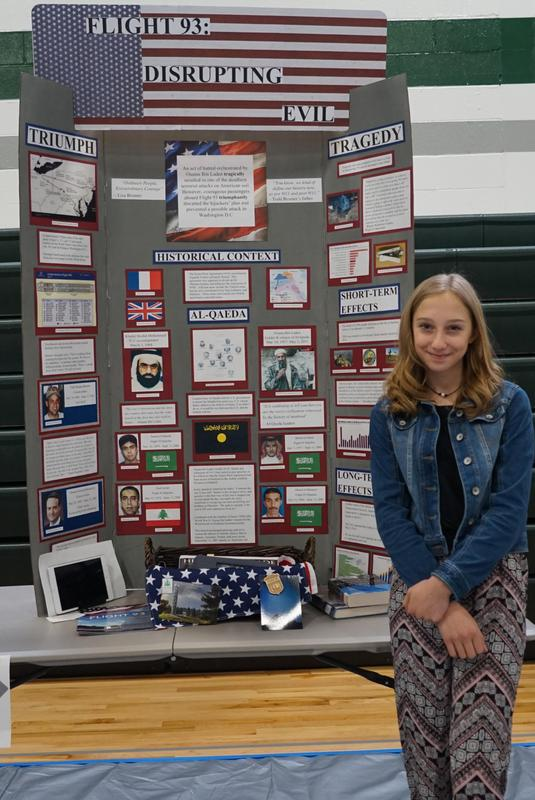 National History Day State 3rd Place Winner, Katelynn Hyndman