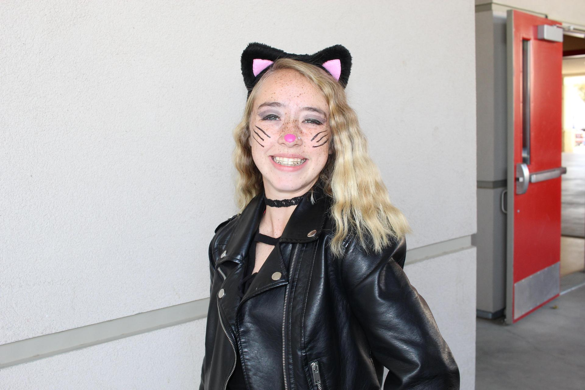 Abbigail Garner dressed as cat women