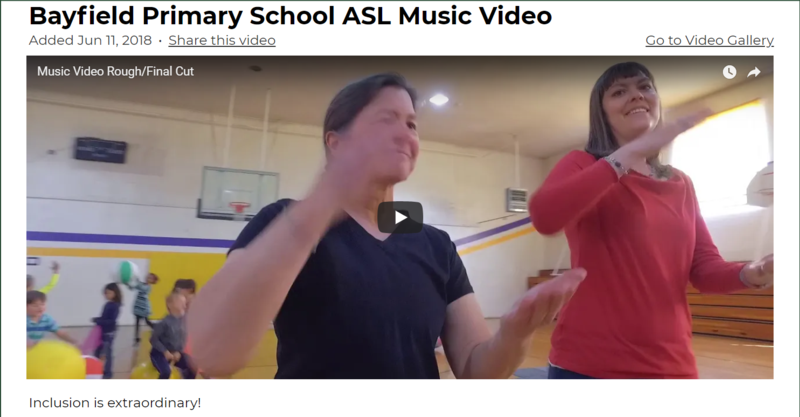 still image of ASL music video