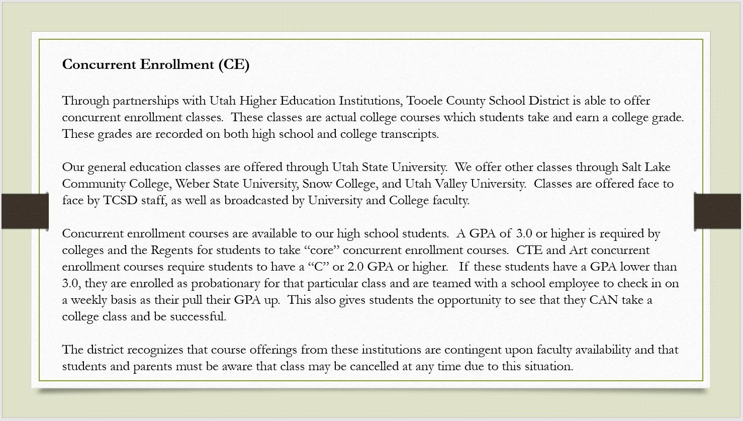 Concurrent Enrollment (CE)