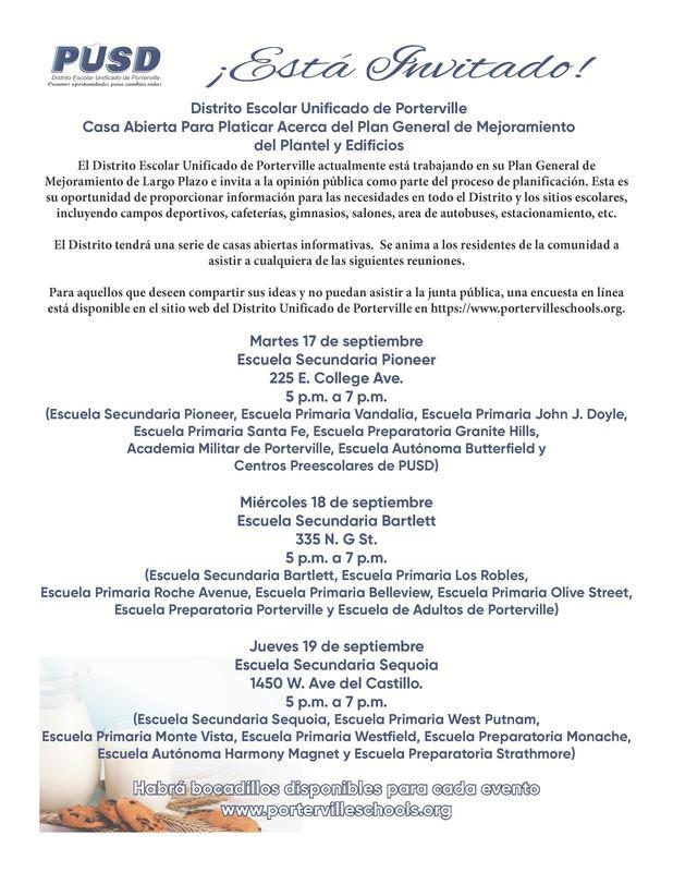 Facilities Master plan (Spanish)