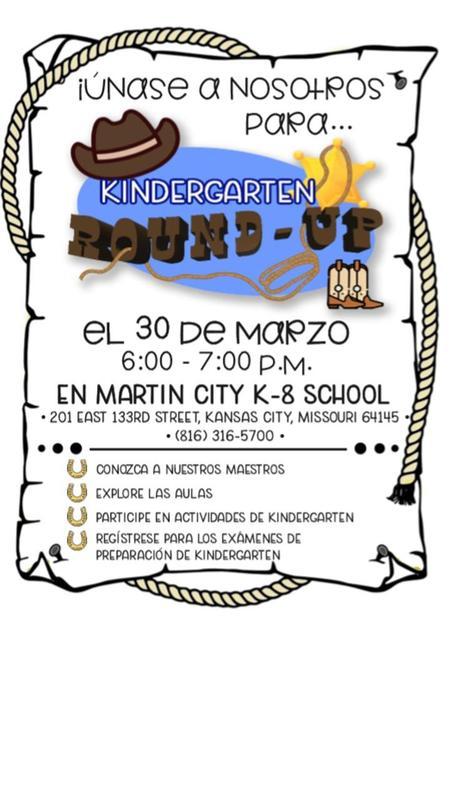 Kindergarten Round Up Spanish